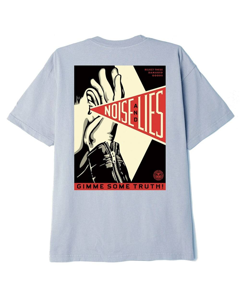Obey Gimme some truth organic superior t-shirt - good grey obey T-shirt 52,00€