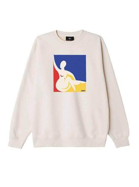 Obey Julia premium box fit crewneck fleece - sago obey Sweater 77,87€