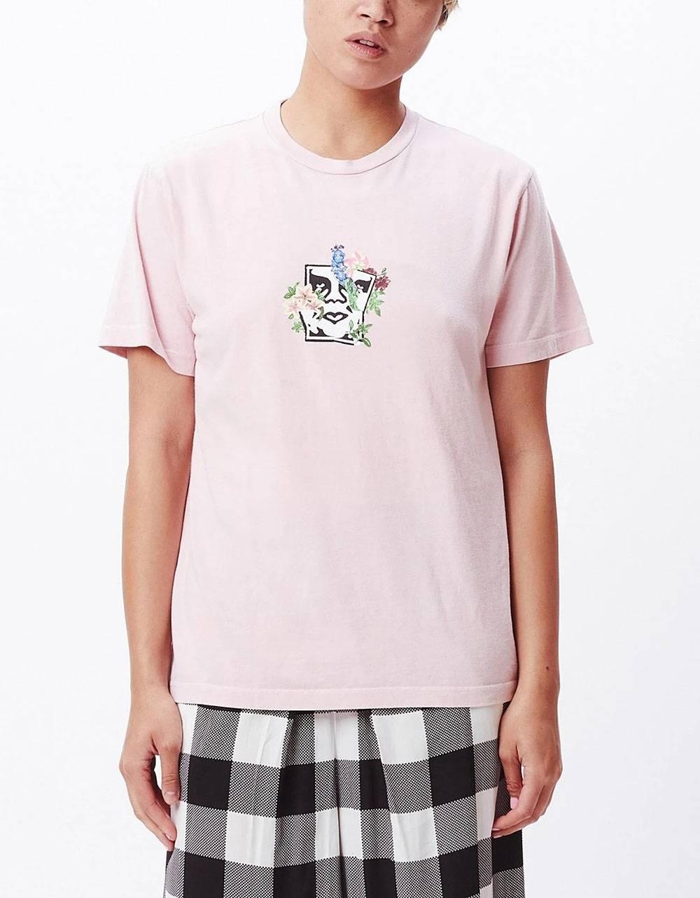 Obey Woman Flower burst choice box tee - peach obey T-shirt 37,70€