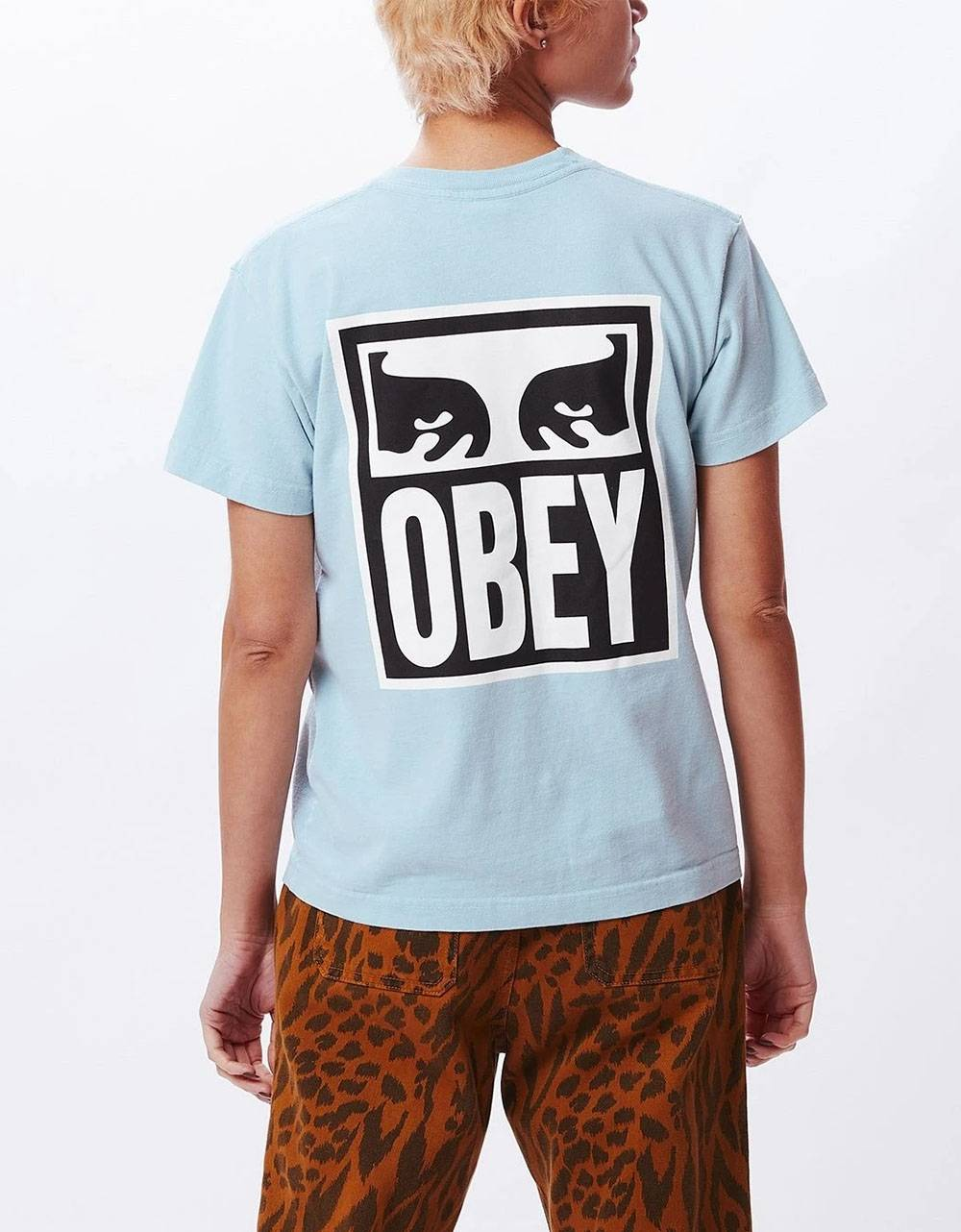 Obey Woman eyes custom box tee - mineral obey T-shirt 37,70€