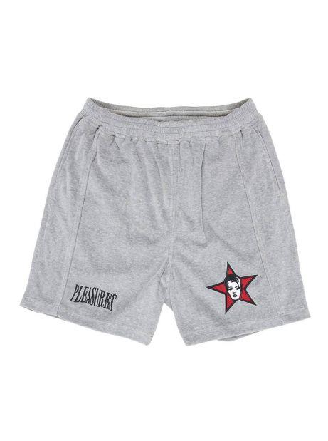 Pleasures Party animal velour shorts - grey Pleasures Shorts 77,87€