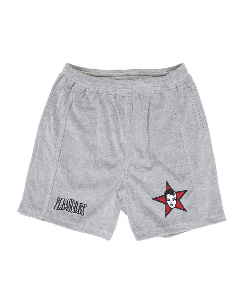 Pleasures Party animal velour shorts - grey Pleasures Shorts 95,00€