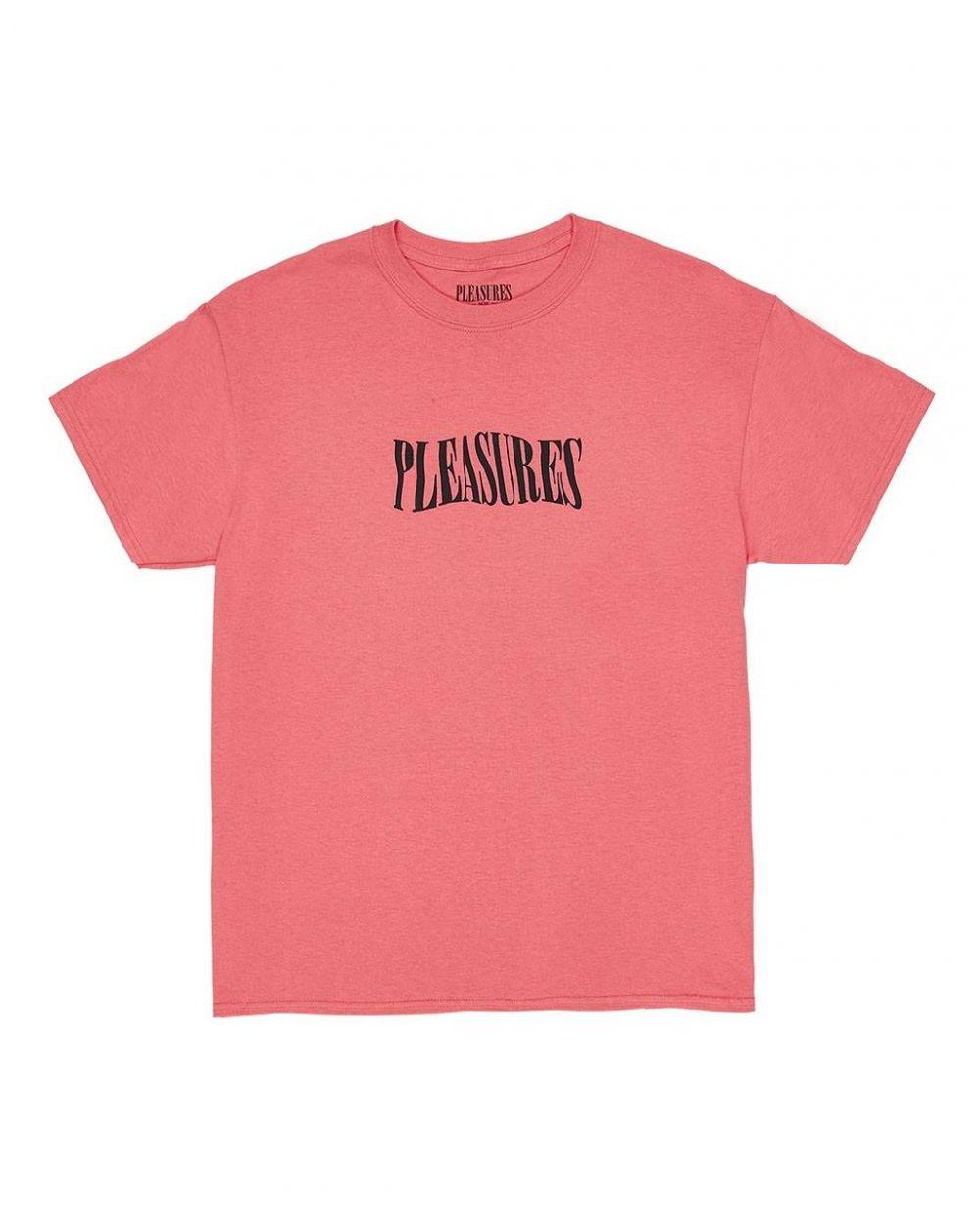 Pleasures Party logo t-shirt - coral Pleasures T-shirt 45,90€