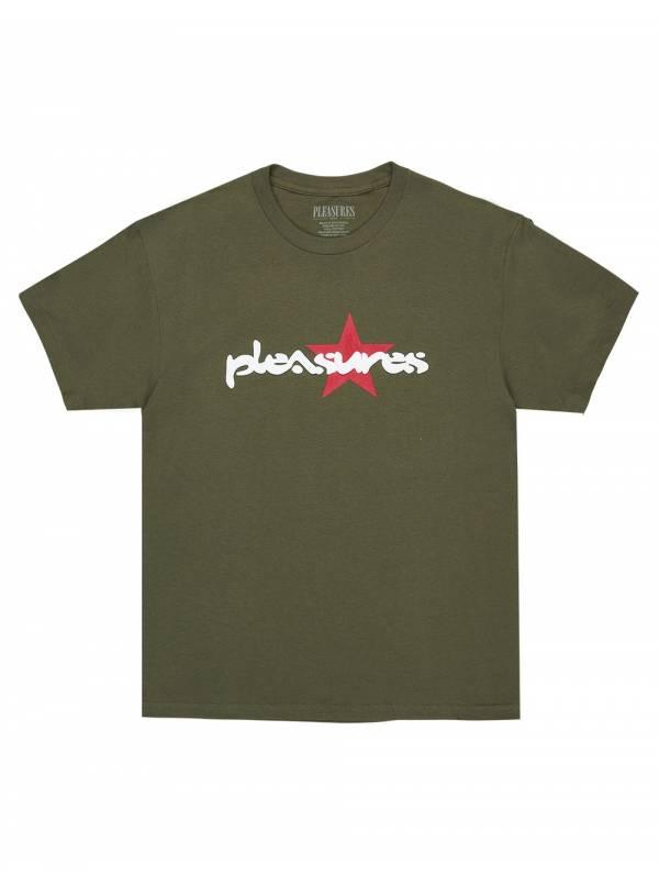 Pleasures Vibration t-shirt - olive Pleasures T-shirt 56,00€
