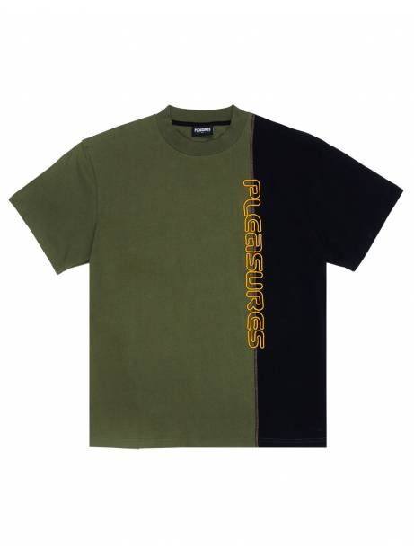 Pleasures Reality split heavy t-shirt - black/olive Pleasures T-shirt 61,48€