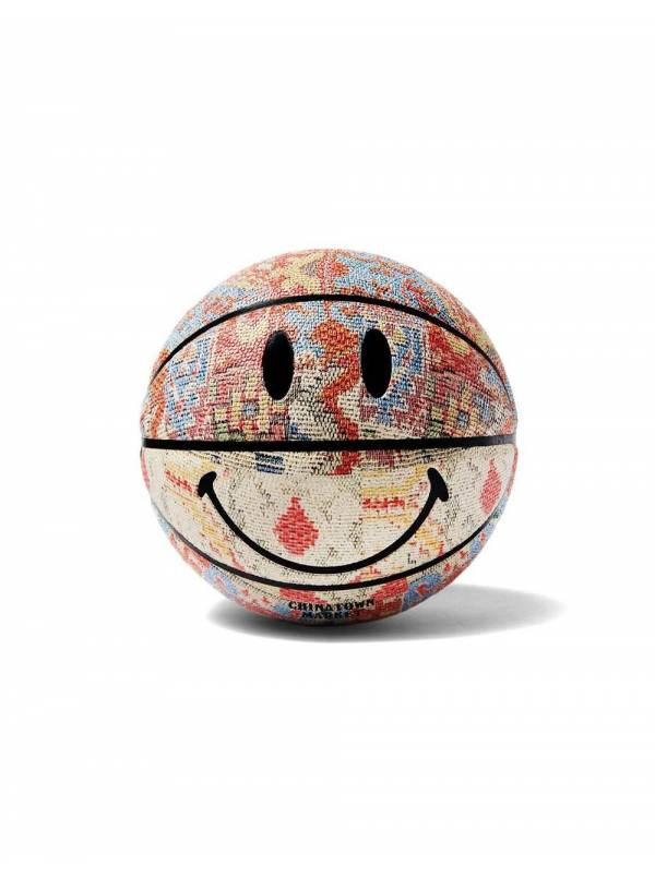 ChinaTown Market Smiley patchwork rug basketball - multi all over Chinatown Market ACCESSORIES 81,97€