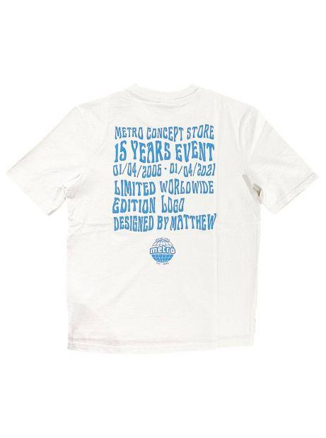 Metrò '15 Years Event' heavy box fit tee - white Metrò merch T-shirt 28,69€